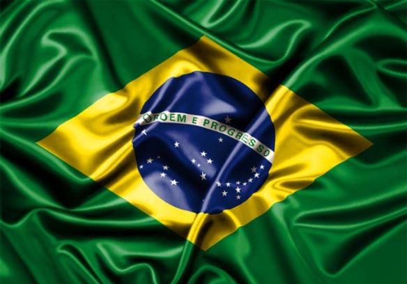 """""""Terra adorada, entre outras mil, és tu Brasil, ó pátria amada""""."""